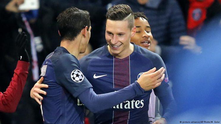 Julian Draxler et Angel Di Maria, heureux d'avoir atomisé le FC Barcelon